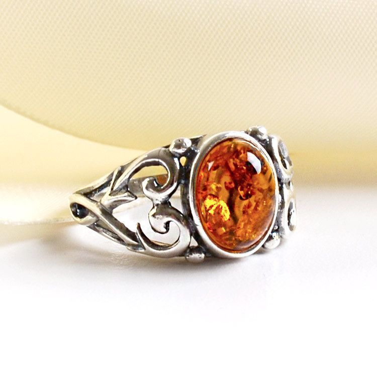 Amber Rings Stylish Amber Amp Silver Ring The Russian Store