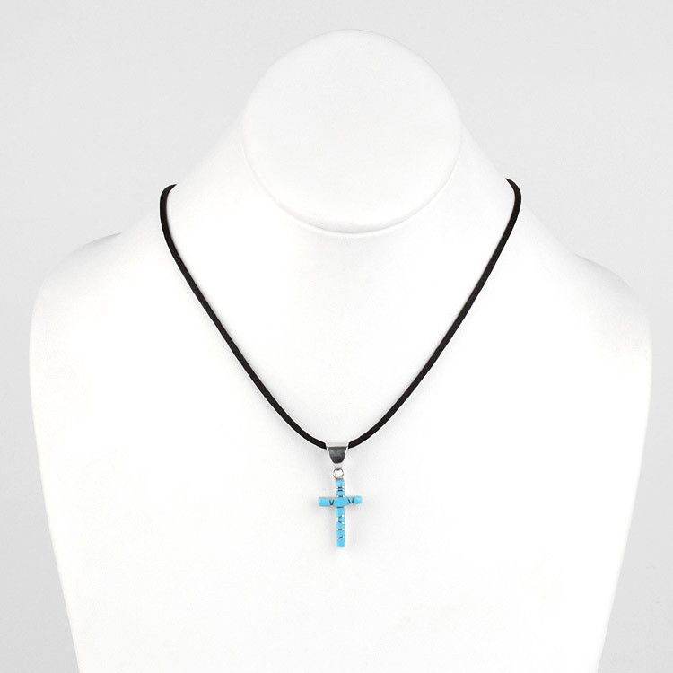 Small turquoise cross pendant aloadofball Image collections