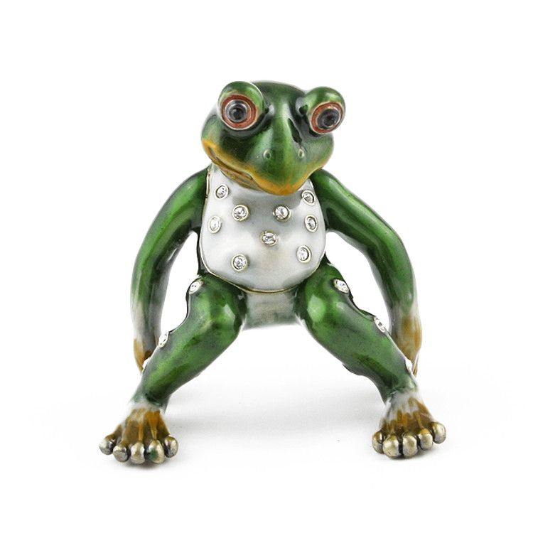 Trinket Boxes Relaxing Frog Family Trinket Boxes The Russian Store