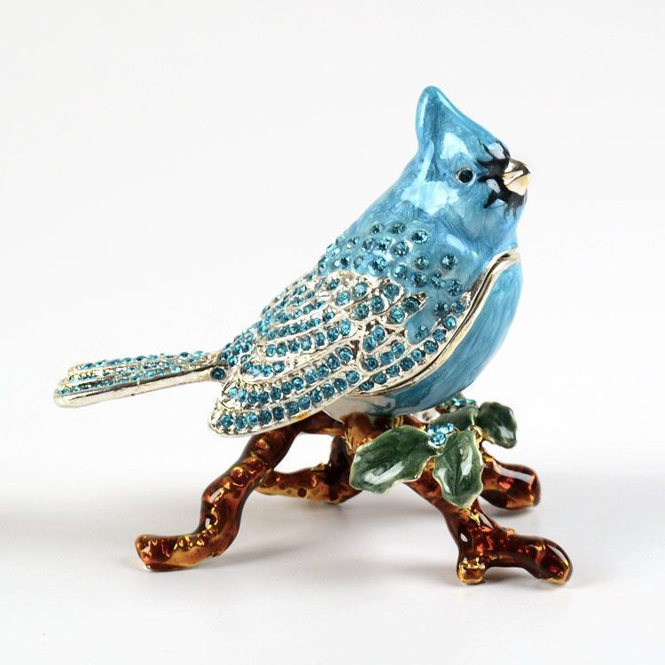 Trinket Boxes Blue Jay Bird Trinket The Russian Store