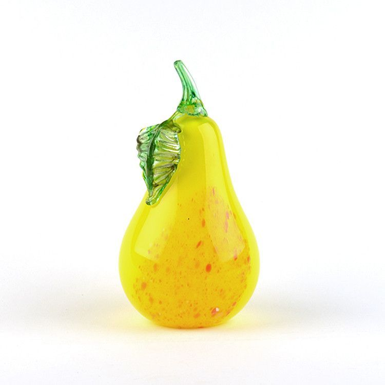 Art Glass Delicious Yellow Pear