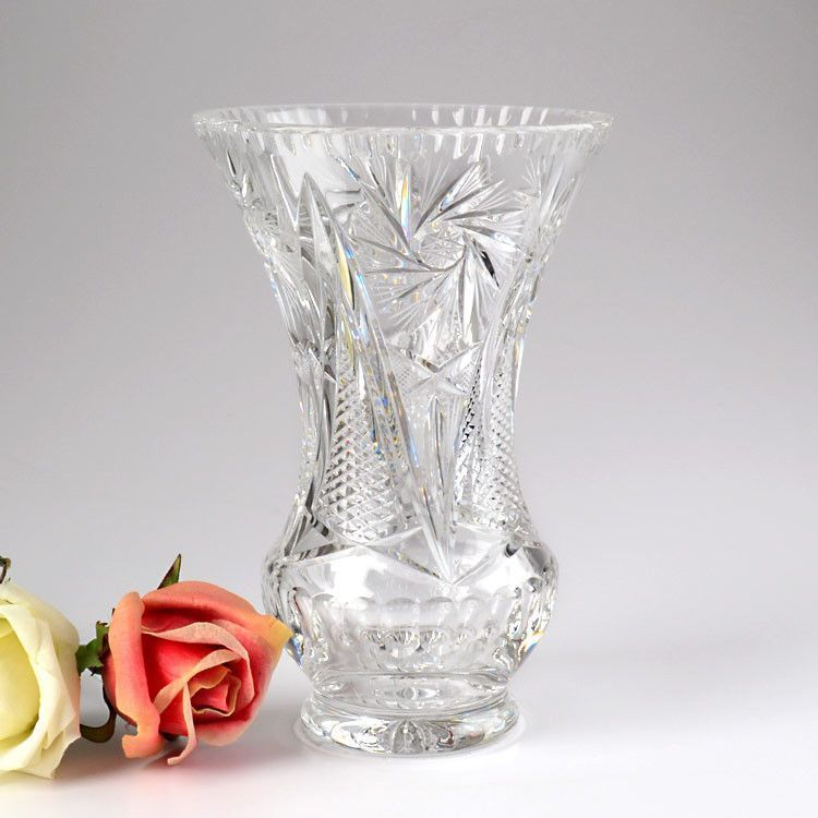 Crystal Vases And Bowls Lead Crystal Glass Vase The Russian Store