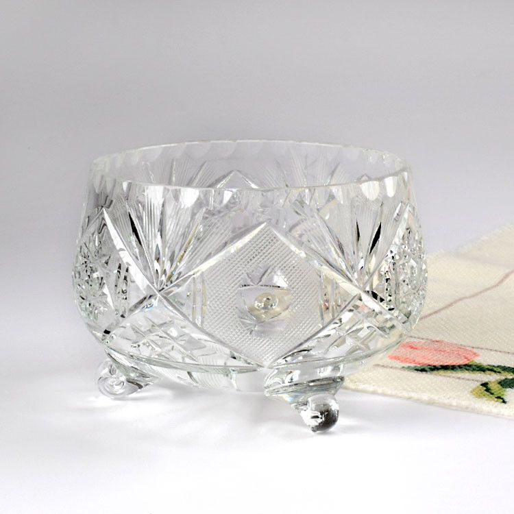 Small Crystal Glass Candy Dish