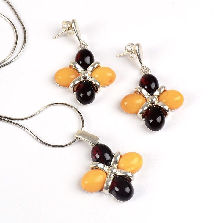 Butterscotch & Cherry Amber Set
