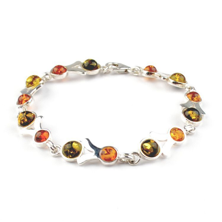 Multi-Colored Amber Bracelet