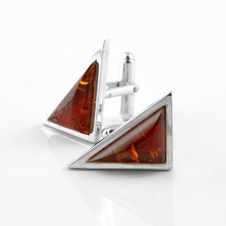 Amber Triangle Cufflinks