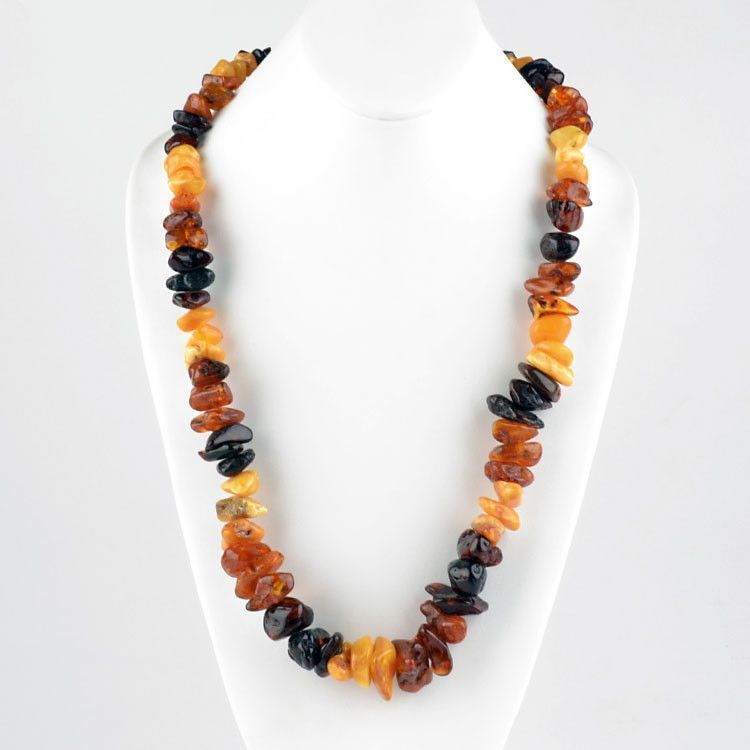 Natural Multi-Colored Amber Necklace