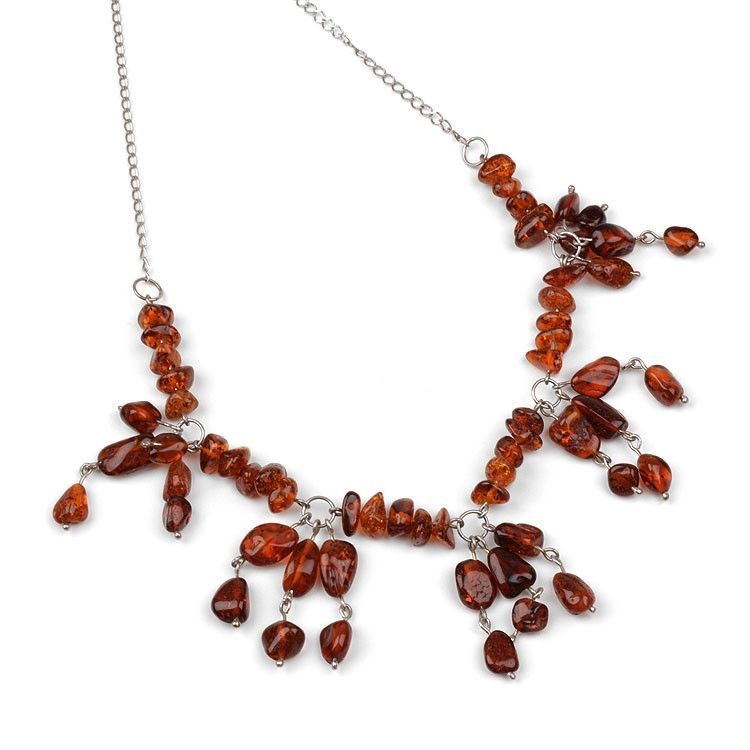 Bits of Amber Necklace