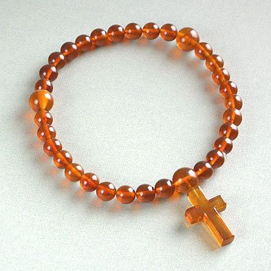 Vintage Amber Worry Beads Rosary
