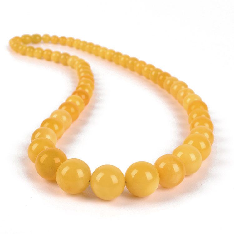Amber Jewelry - Butterscotch Amber Beads Necklace