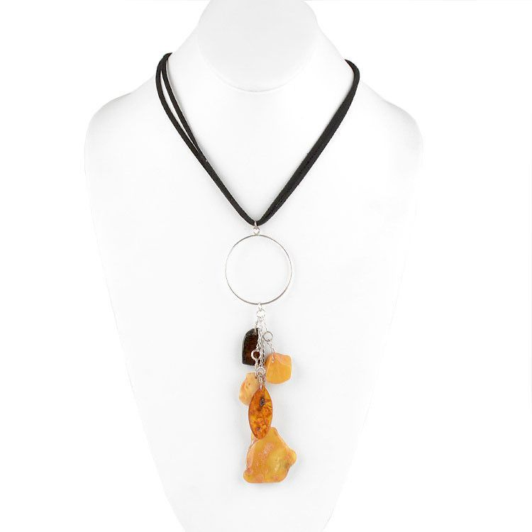 Genuine Amber Chunks Necklace
