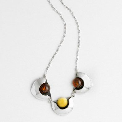 Uniquely Shaped Amber Necklace