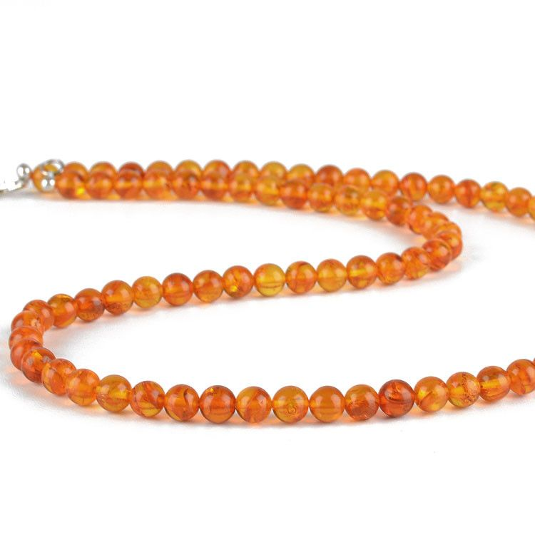 Amber Round Beads Necklace
