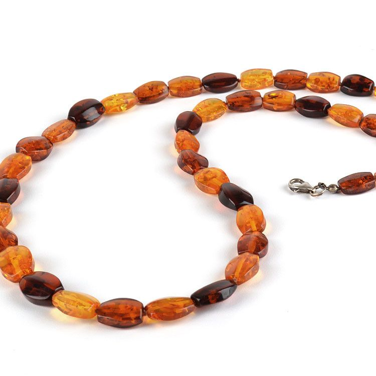 Amber Honey and Cognac Necklace