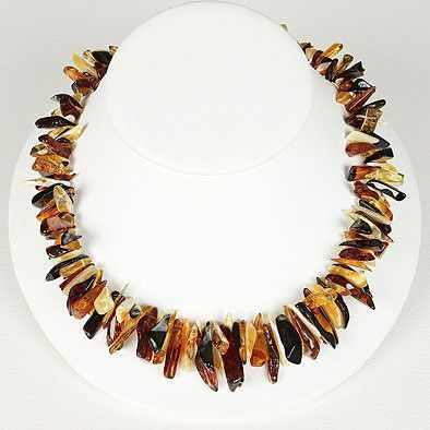 Honey Cognac and Butterscotch Amber Necklace