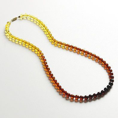 Unique Amber Beaded Necklace