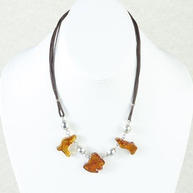 Designer Unisex Honey Amber Necklace