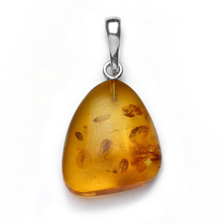 Amber Pendant with Silver