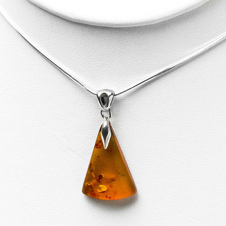 Unique Amber and Sterling Pendant