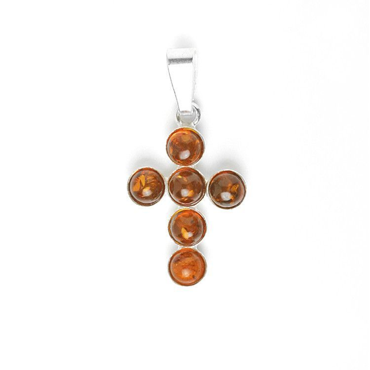 Timeless Amber Cross Pendant
