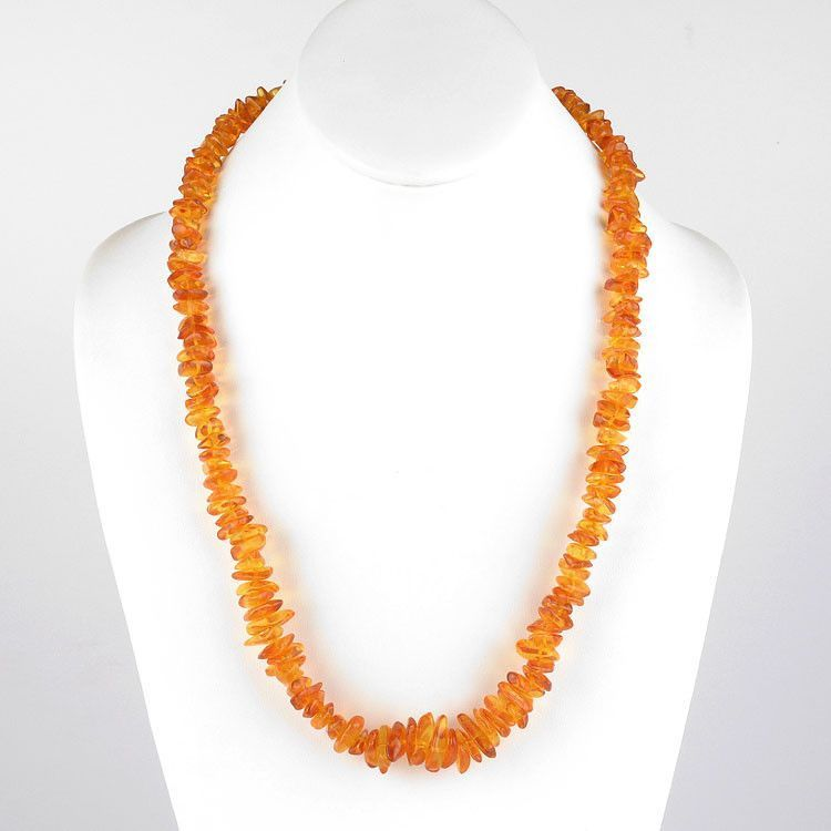 "24"" Honey Chips Amber Necklace"