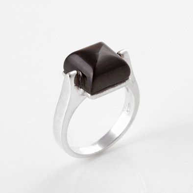 Modern Cherry Amber Square Ring