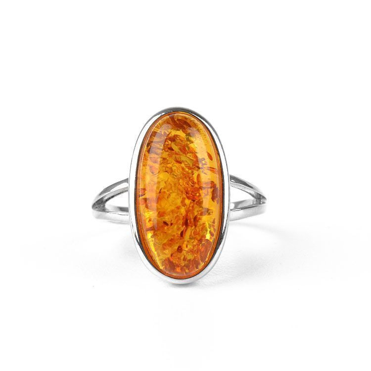Perfect Oval Classic Amber Ring