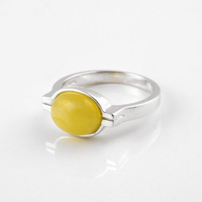 Modern Butterscotch Amber Ring