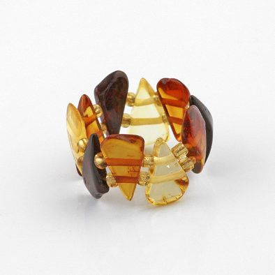 Amber Wedges Stretch Ring