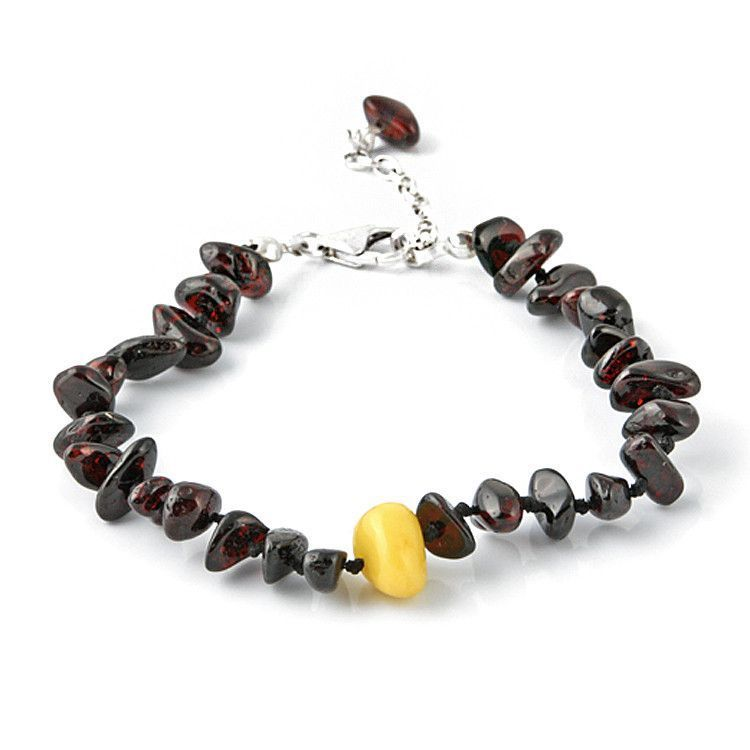 Cherry Amber with Butterscotch Accent Bracelet