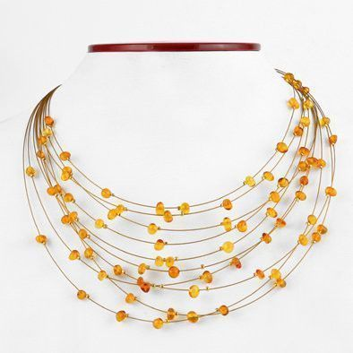 Drops of Honey Amber Necklace