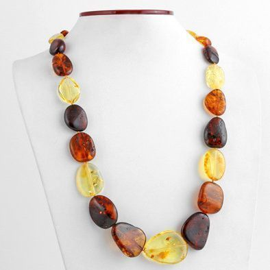Chunky Multi-color Natural Amber Necklace