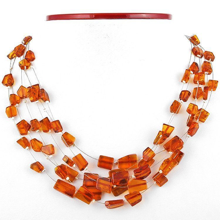 6-Layer Multi-tiered Amber Necklace
