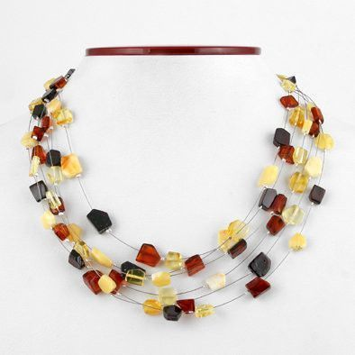Mix Colors Baltic Amber Necklace