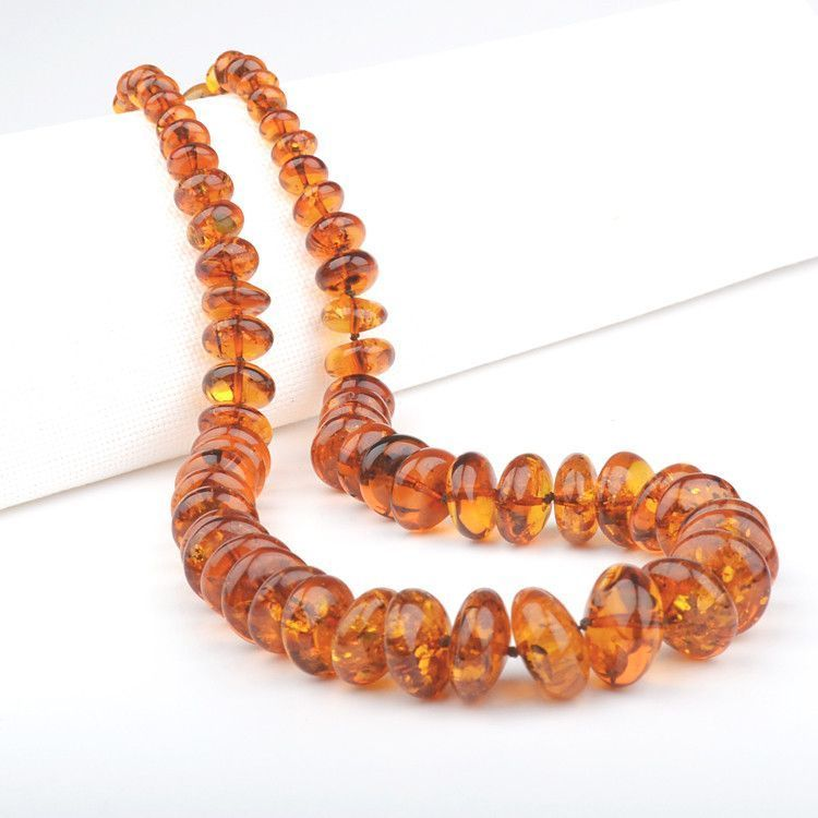 Grand Rounded Amber Beads Necklace
