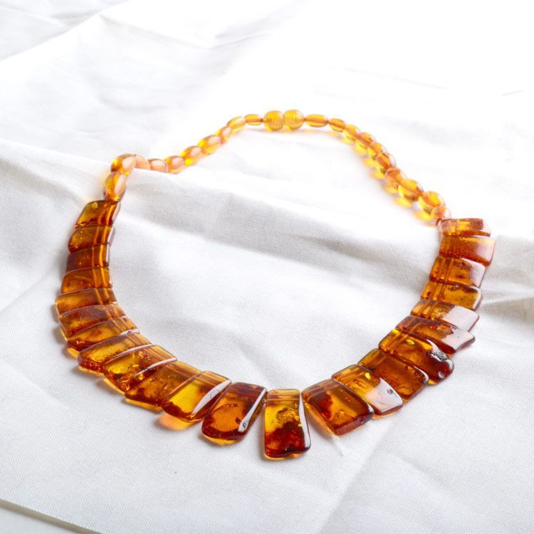 Natural Chips Amber Necklace
