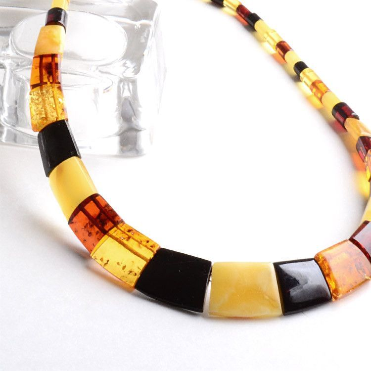 Multi-Stone Amber Necklace