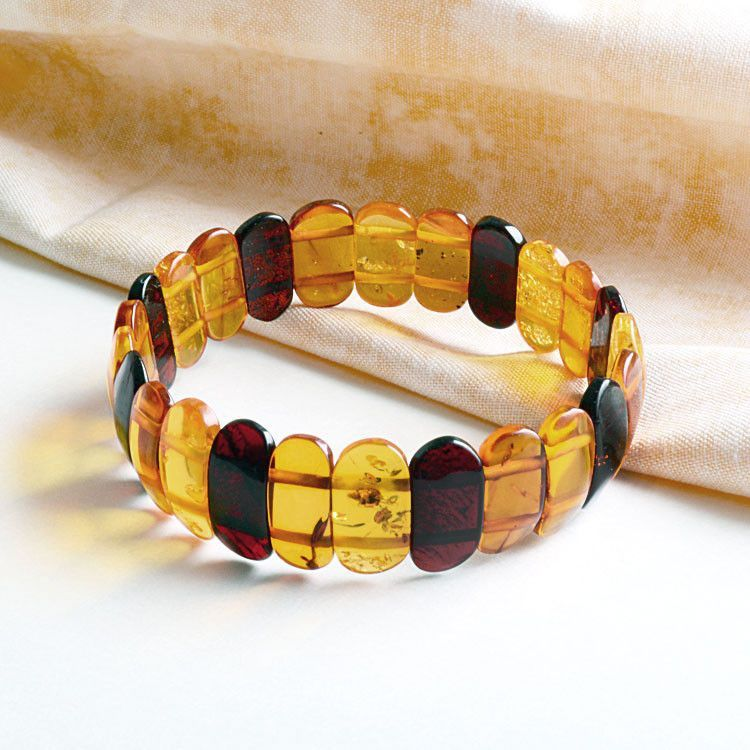 Colorful Amber Stretch Bracelet