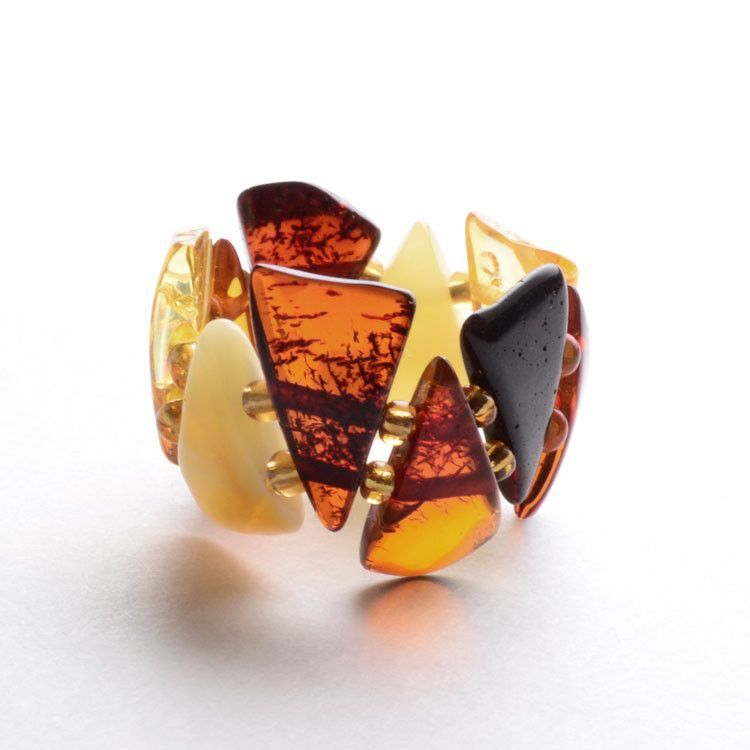 Stretchy Colors of Amber Ring