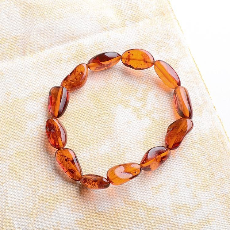 Honey Amber Stretch Bracelet