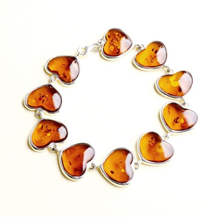 Hearts of Honey Amber Bracelet