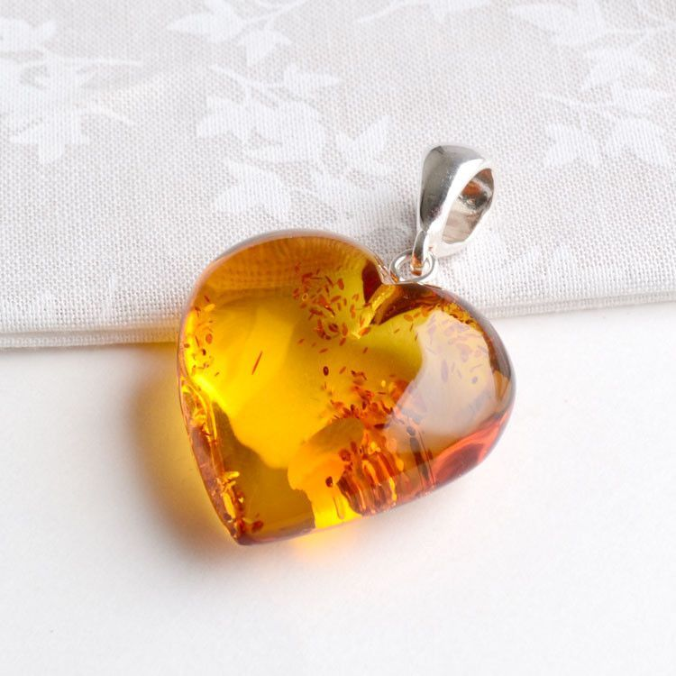 Baltic Amber Heart Of Love Pendant