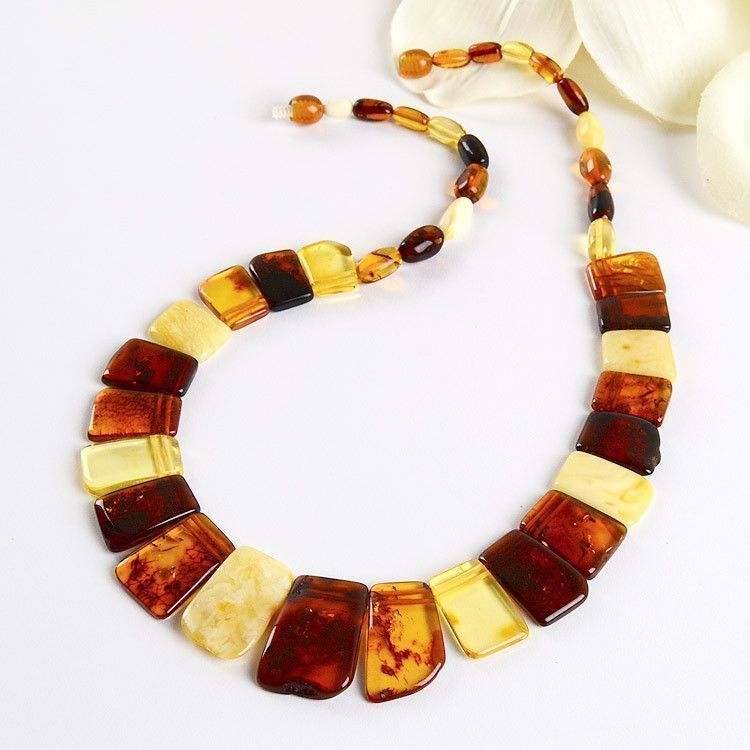 Multi-colored Amber Collar Necklace