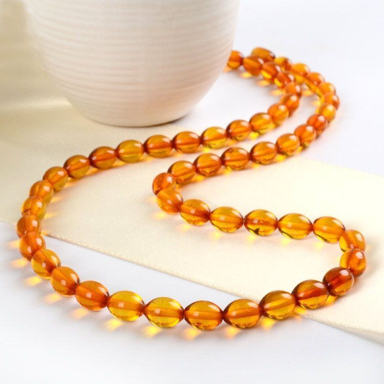 Rounded Amber Beads Necklace