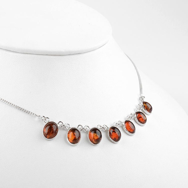 Amber Droplets Necklace