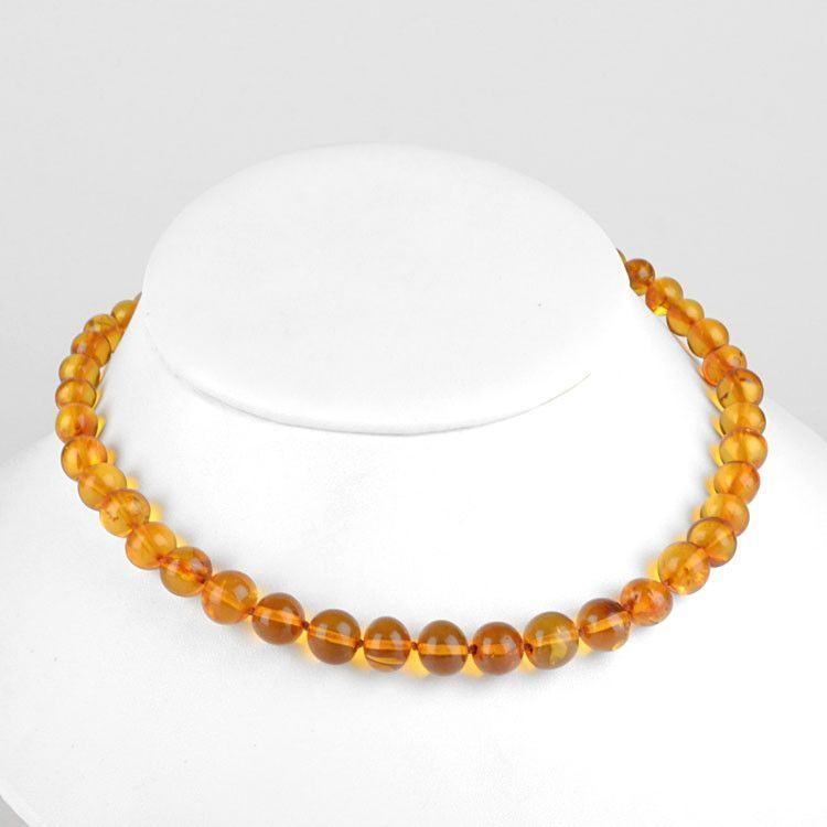 Classic Round Amber Beads Necklace