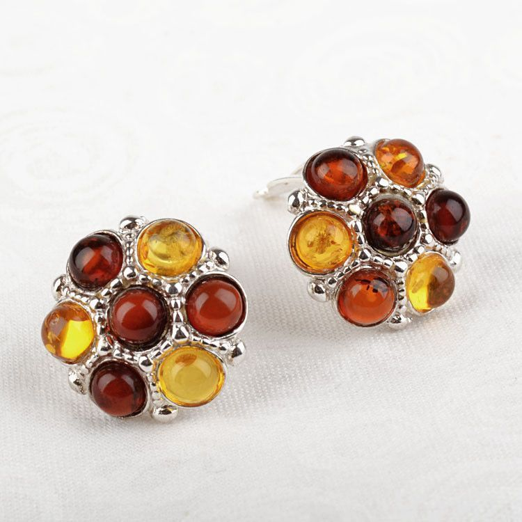 Fun Amber Clip-On Earrings