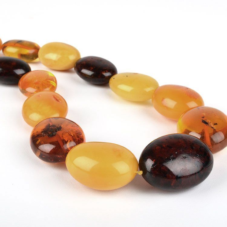 Big Amber Beads Necklace