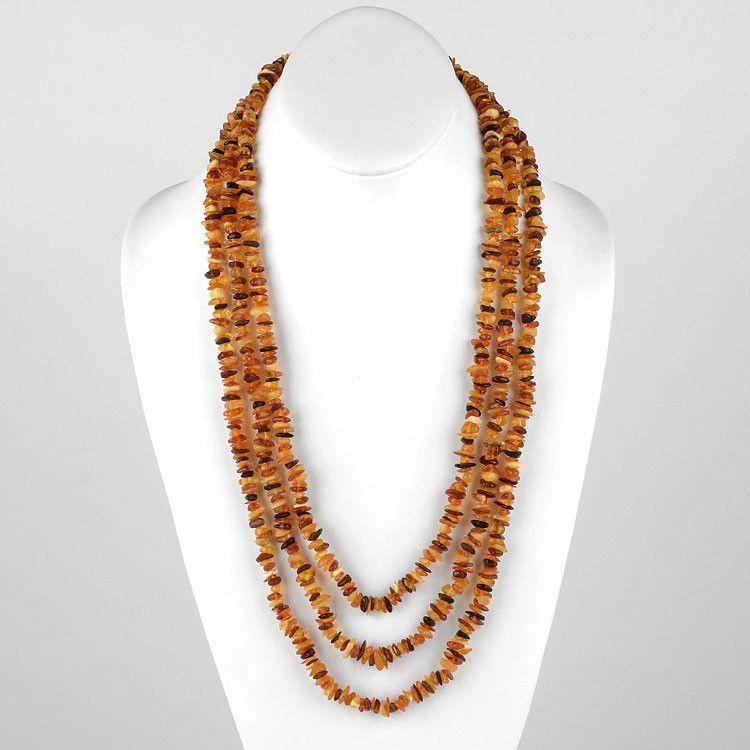Super Long Amber Necklace 76""