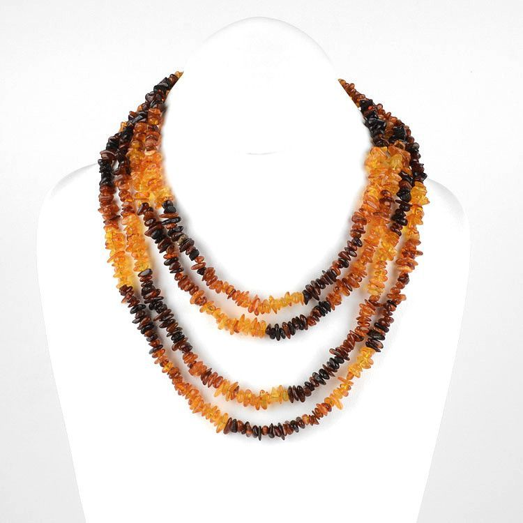 Extra Long Amber Necklace 76""